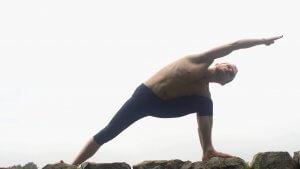 Charcoal Yoga Parsva Konasana