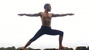Charcoal Yoga Virabhadrasana B